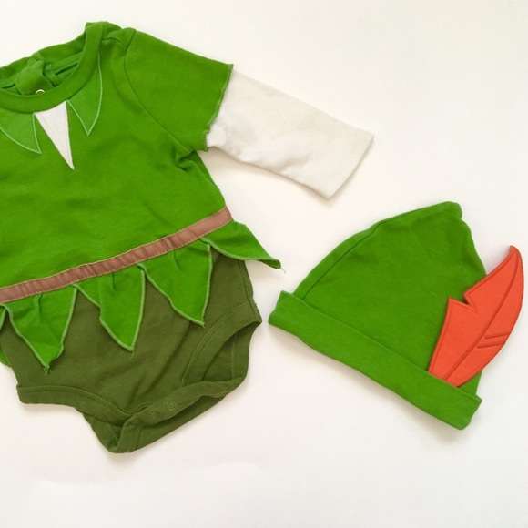 a9d73533 Disney Costumes | Peter Pan Onesie With Hat Costume | Poshmark